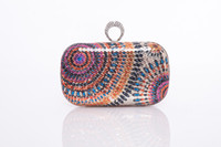 Wholesale 2014Classical Personality Colorful Sequins Women s Clutches Fashion Finger Ring Purse Shining Evening Bags For Wedding Party Bridal Handbags
