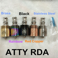 Wholesale Tobh ATTY V2 Atomizer RDA RBA rebuildable atomizer tank with Thread Fit for all of the Mechanical Mod vs patriot omega nimbus fogger