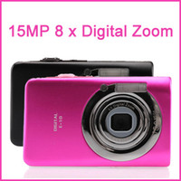 Wholesale 2 quot TFT LCD Screen Digital Camera MP x Digital Zoom P Anti shake AVI JPEG mAh x free ship