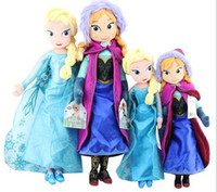 3-4 Years christmas gifts - Frozen Dolls cm inch Elsa Anna Toy doll Action Figures Plush Toy for christmas gift