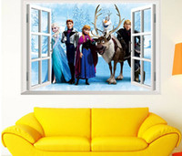 Wholesale Christmas Decorations Frozen Wall Stickers Wall Decals Wallpaper Rolls Sticker For Kids Room Home Decor Free DHL Factory Price