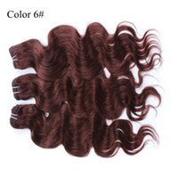 Wholesale 16 quot quot Blonde Hair Extensions Body Wave Brazilian Virgin Hair Chocolate Color Or Wavy Human Hair Weave Wefts A Grade