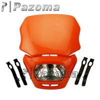 Wholesale ORANGE UNIVERSAL MOTORCYCLE HEADLIGHT ENDURO MX TRAIL KTM EXC SX SXF XC NEW PAZOMA