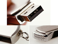 Wholesale 64GB GB GB USB Flash Drive Memory Stick Pen Silver Metal With Keyring Swivel hot sell