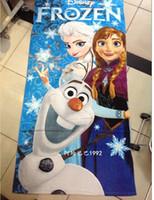 Wholesale 2014 NewFROZEN Princess Towel Frozen Elsa and Anna cotton towels bathroom children beach towel kids bath towel frozenC33