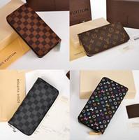 Wallets overseas - new Spot overseas purchasing Zippy zipper wallet presbyopia M60017 brown N60015