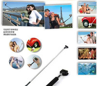 Wholesale Monopod Telescopic Extendible Handheld Monopod with Tripod Mount Adapter for Sport Camera Gopro HD Hero Rose Camera Photo Equipment