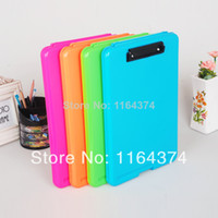 Wholesale Candy multicolour plastic file box a4 paper storage box quality outdoor waterproof office file folder Fashion Hot