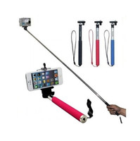 Wholesale Monopod Z07 Portable Extendable CM Monopod with Universal CM Clip Holder for Camera DV Camcorder for iphone Samsung HTC ETC