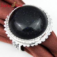 LUckyshine - - - 5pcs lot 925 silver night eyes stone ring for ...