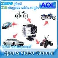Wholesale Sport Cameras SJ4000 video action camera full hd p digital waterproof camera professional helmet filmadora Sport Cameras DV Gopro