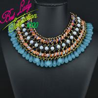 Wholesale New Za Necklace Pendants Brand Fashion Bohemian Mental Chunky Choker Hollow Necklace Statement Best Lady