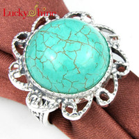 LUckyshine - - - 5pcs lot 925 sterling silver Turquoise ring fo...