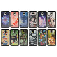 Wholesale 50 DHL Fashional D Effects Style Skull Pattern Plastic Case Cover for Samsung Galaxy S5 I9600 G900