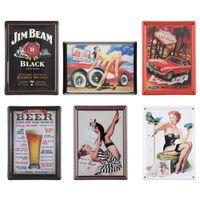 Graphic vinyl PVC Animal Vintage Antique Humor Mini Metal Tin Sign Art Tavern Garage Pub Home Wall Decor Free Shipping