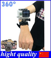 Wholesale 360 Degree Rotation Hand Camera Wrist Strap Belt Band Holder Mount for GoPro Hero Plus hight quality