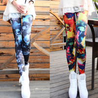Women Skinny,Slim Skinny 5pcs lot 2014 Autumn Punk Chic Women Leggings Galaxy Print Cosmic Space Tights Stretchy Pants Legging Fitness Clothing for Women G0610