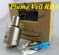 Replaceable 1.6ml Metal Plume veil RDA Stainless steel and copper atomizer high quality and cheap 2014 Newest atomizer electronic cigarette free shipping via DHL