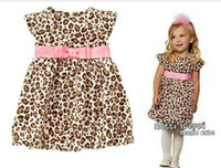TuTu Summer Beach Baby clothes New girl lovely summer brim pink belt fly sleeve leopard-print dress Detonation model wholesale freeshipping 2014new 2Y-6Y