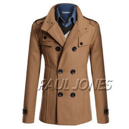 Wholesale Hot Men s Double Breasted Overcoat Tops Thermal Coat Winter Jacket Windbreaker CL4688
