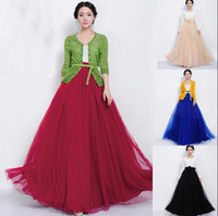 2014 New Fashion Women Bowknot Empire Waist Chiffon Skirt Ca...
