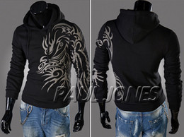 Wholesale New Men s Top Designed Slim Fit Hooded Hoodies Jackets Coats Sweater IN XS S M L CL4691