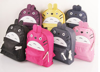 Wholesale Lovely cartoons totoro cartoon backpack fashion backpack primary school students school bag sports bag