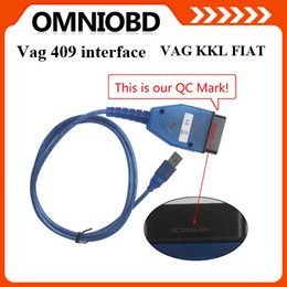 Wholesale vag VAG KKL USB Fiat Ecu Scan diagnostic Comaptible Interface OBD tool vag409 for one year free warranty