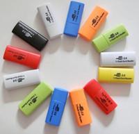2014 USB para tarjeta de TransFlash TF MICRO SD DE MEMORIA adaptador de lector 1gb 2gb 4gb 8gb 16gb 32gb 64gb 128gb tarjeta microSD tf calidad del grado de un lector USB