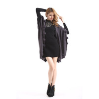 Wholesale 100pcs Tiered Ruffle Women Fur Piping Knitted Cardigan Irregular Shawl Scarf Cape Sweaters Loose Ruched Poncho HS011 Autumn Fashion