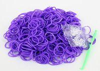 5-7 Years Multicolor Plastic DIY Loom Kit Glow in the Dark Dual Color Polka Dot Glitter Refill Bands Bracelet (300 pcs bands + 12pcs C S-clips + hook )