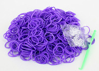 5-7 Years Multicolor Plastic DIY Rainbow Loom Kit Glow in the Dark Dual Color Polka Dot Glitter Refill Bands Bracelet (300 pcs bands + 12pcs C S-clips + hook )