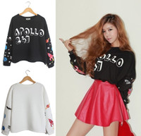 Women V-Neck Short Free Shipping New 2014 Sale Shorts Women Clothing Fashion Letter Printed Batwing Sleeve T Shirt Tops Tee Blouse Pullover Jumper