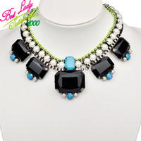 Wholesale Highend Korean necklace vintage metal chains pearl Glam Rock Show Models Fluorescent jewelry Color Collar Necklace for fashion women BL3224
