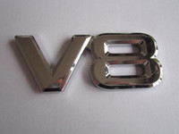Wholesale pieces D ABS V8 Emblems badge stickers for Audi VW Ford bumper stickers