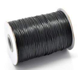 Wholesale 24 colors high quality Waxed Cotton Cords For Wax Jewelry Making DIY Bead String Bracelet Sewing Leather Necklace mm Yards