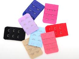 Clip soutien-gorge chaude en Ligne-Hot 10000pc Ladies 2 Crochets Bra Strap Extender crochet clip parfaite nue boucle de ceinture réglable multi couleurs disponibles