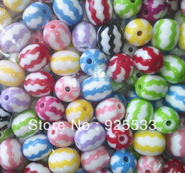 Free Shipping 100pcs 16X19mm new fashion resin oval shape watermelon colorful beads for kid chunky necklace bracelet jewelry DIY