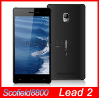 Wholesale Android kitkat Leagoo Lead quot Ultra thin frame IPS MTK6582 Quad core Android Phone SmartPhone G G MP WCDMA MHZA