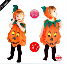 Wholesale 2014 Halloween costumes pumpkin Halloween party costumes for kids Cosplay