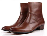 Wholesale British high cowboy boots leather shoes Work boots army boots Genuine leather men s shoes