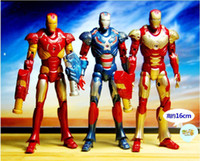 Finished Goods Roles Frozen New baby toys Lot of 3pcs Iron Man Ironman Movie Iron Action Figures Loose 7 inch Chest can light classic toys toys for childrencarton actio