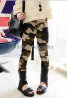 Wholesale 2014 Fashion Girls Pants Camo Leggings Ninth Cotton Pants Kids Wear Children Clothes PT40723