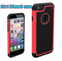 Hot iphone6 4. 7' ' 2 in 1 Hybrid Silicone+ PC Robot...