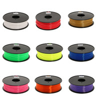 3.0mm/1.75mm white, black,red etc.  3D printer Filament PLA ABS Filament 3mm 1.75mm 1kg 2.2lbs Black White Red Blue Green Yellow Pink Purple Gold Translucent For 3D Printer