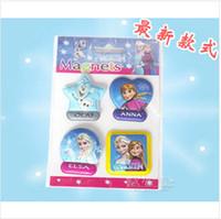 Wholesale 2014 new Anna Elsa Stickers Fridge Memo Sticker Snow Queen Magnet Children Kids Toys Gifts Presents Cartoon Home Suppiles frozenc184