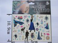 Wholesale frozen theme queen Anna Elsa cartoon temporary tattoos stickers A B C