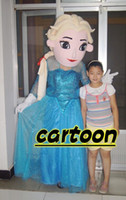Mascot Costumes Unisex Free Size Real Pictures Deluxe new elsa from frozen Mascot Costume ,Promotions , free shipping
