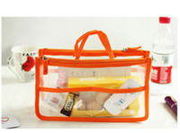 plastic tote - Clear Dual Zipper Cosmetic Bag Organizer Transparent Multifunctional Storage Organizer Cosmetic Tote Handy Pouch Sleeve
