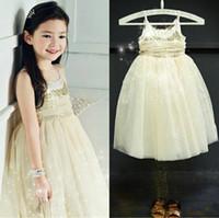 Cheap TuTu sequins dresses Best Summer A-Line baby girl
